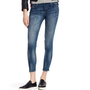 Kut from the Kloth Skinny Zip Ankle Crop Jeans